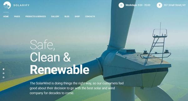 Solarify – Appointment Booking WordPress Theme
