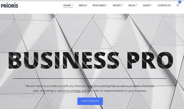 Prioris – Responsive Design WordPress Theme