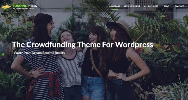 9 fundingpress – crowdfunding wordpress theme
