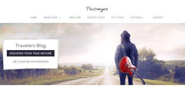 Passenger – Static Front Page WordPress Theme