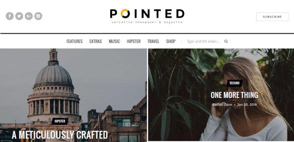 Pointed – Advanced Filter Slider WordPress Theme