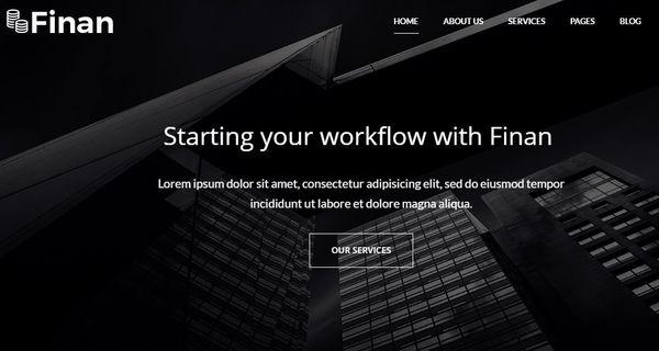 Finan – Fully Responsive WordPress Theme