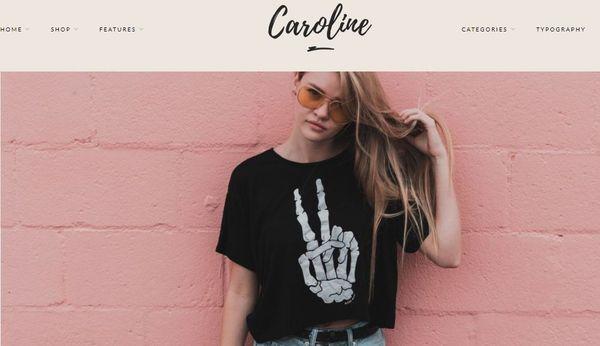 Caroline – Carousel WordPress Theme