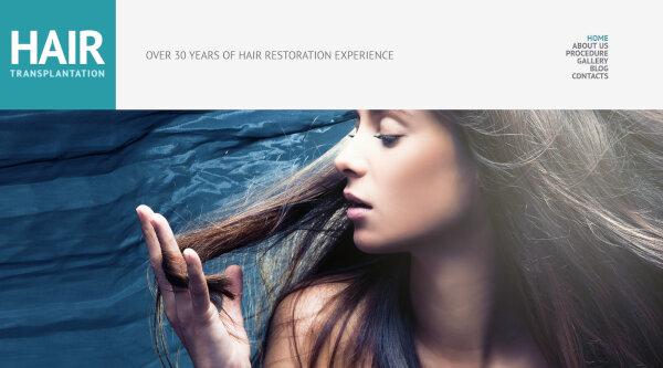 Hair Salon- Video Integrated WordPress Theme