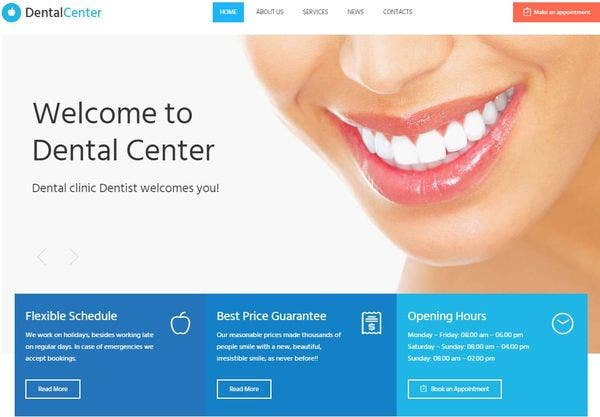 Dentalcenter – Live Search WordPress Theme