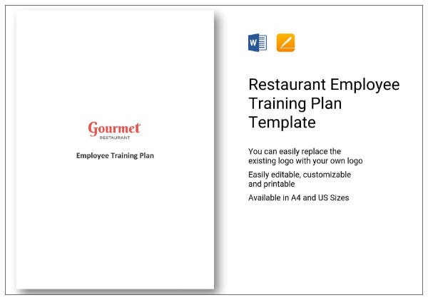 923 restaurant employee training plan template 01