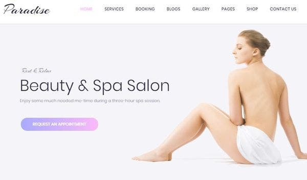 Paradise – Homepage Variation WordPress Theme