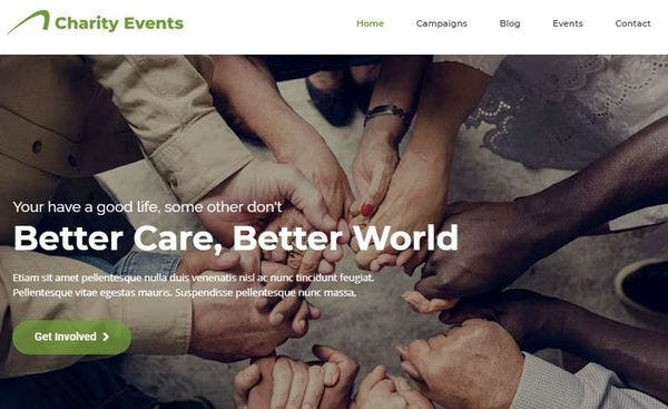 Charity Events – Admin Panel Integrated WordPress Theme