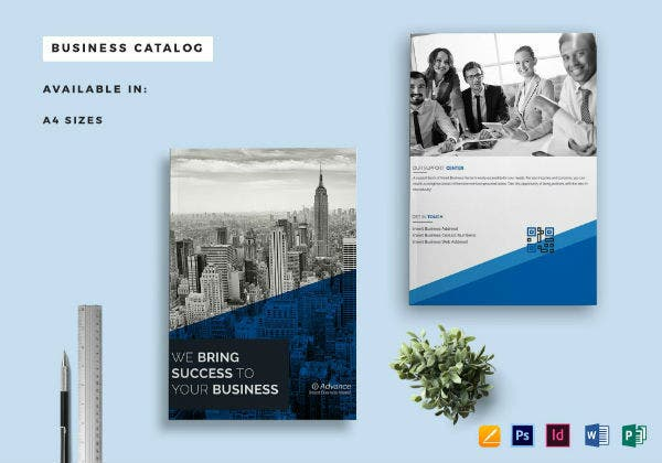 a4 business catalog template