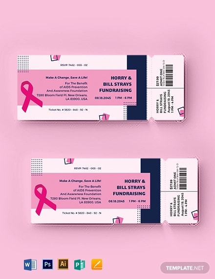 aids fundraising event ticket template