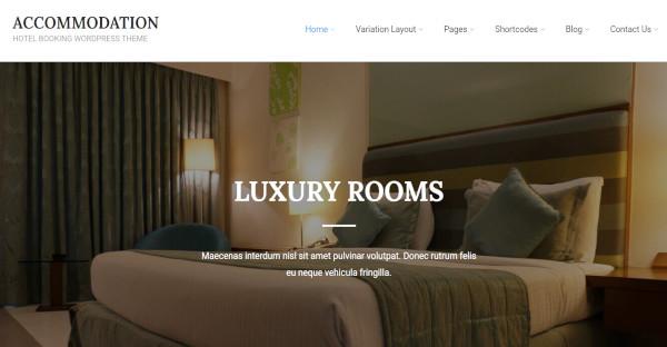 accommodation booking multipurpose wordpress theme