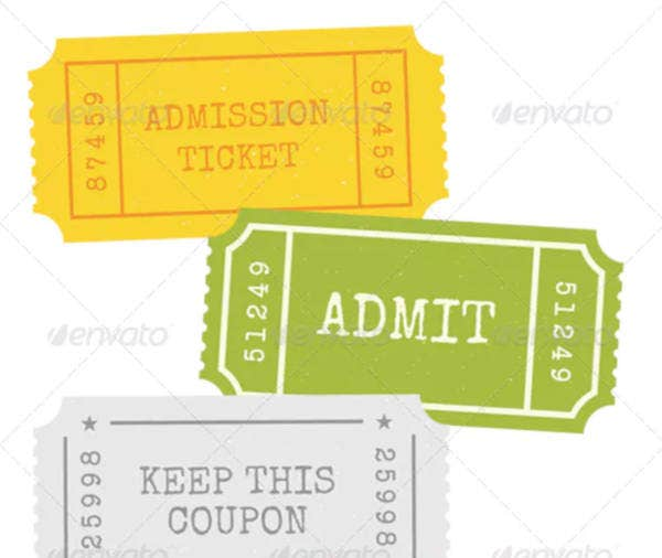 admission ticket vector sample