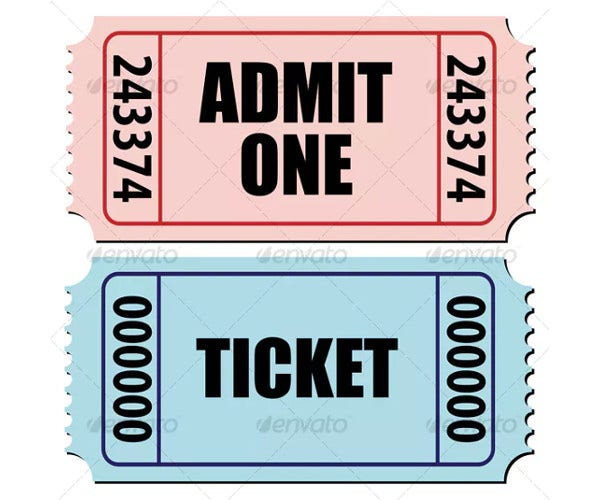admit-one-ticket-design