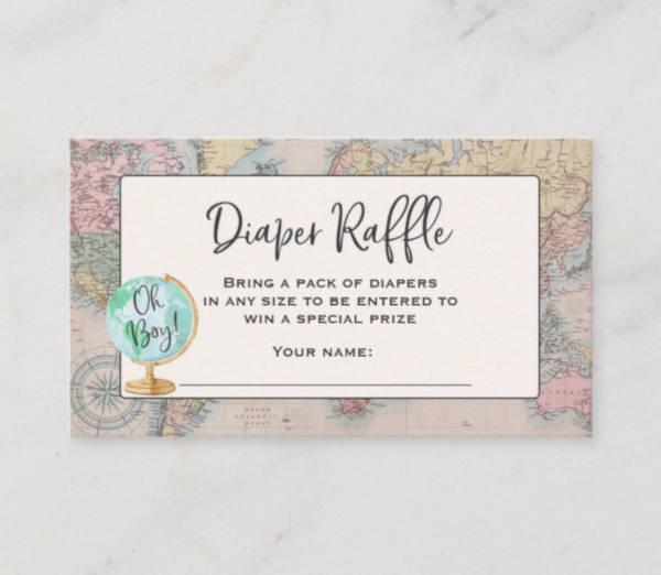 adventure travel raffle ticket