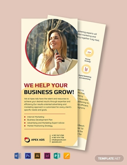 advertising consultant dl card template 440x570 1