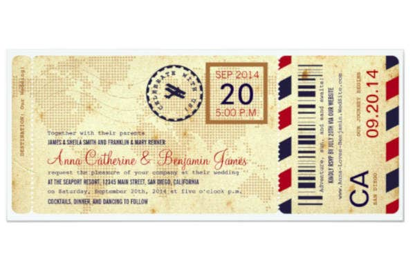 airline boarding pass ticket design
