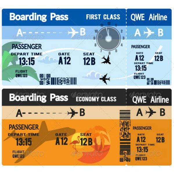 airline boarding pass ticket example