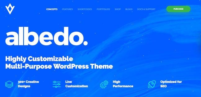 Albedo – SEO Friendly WordPress Theme