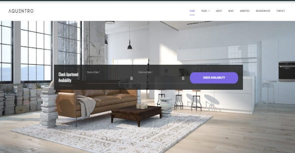 Aquentro - AirBnB Synched WordPress theme