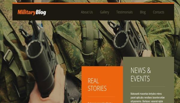 Army – Bootstrap WordPress Theme