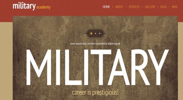 Army – Google Font WordPress Theme