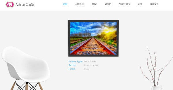 arts and crafts 150 shortcode elements wordpress theme