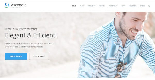 ascendio elementor page builder wordpress theme