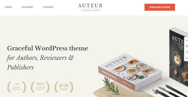 Auteur - WPBakery WordPress Theme