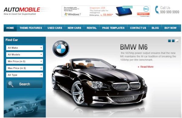 automobile-google-adsense-wordpress-theme