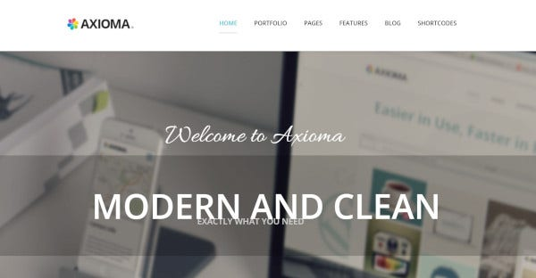 axioma parallax effects wordpress theme