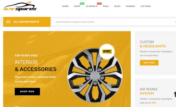 azirspares – fami automative plugin wordpress theme