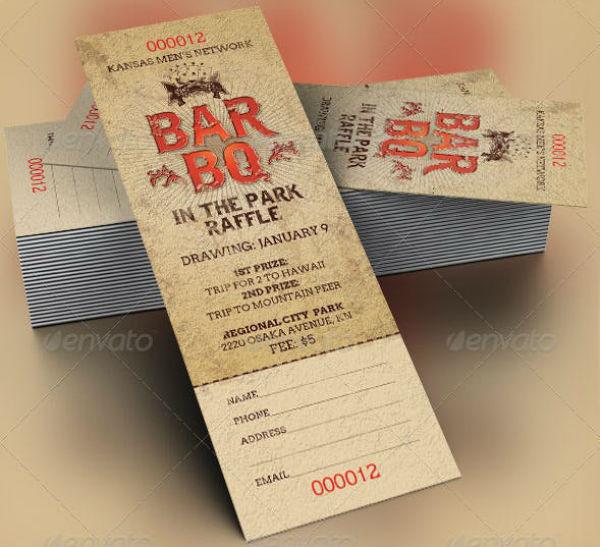 bbq-raffle-ticket-template