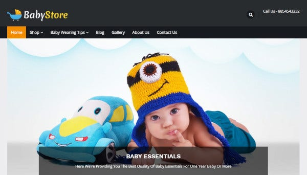 babystore – responsive wordpress theme