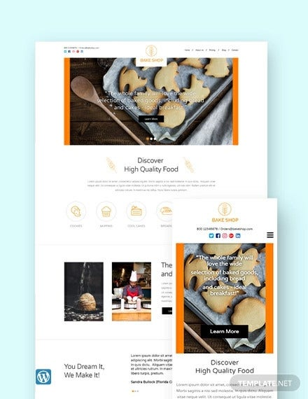 bakery wordpress theme template