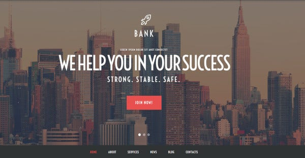 bank 600 google fonts wordpress theme