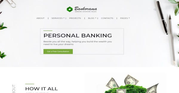 bankorama wpml ready wordpress theme