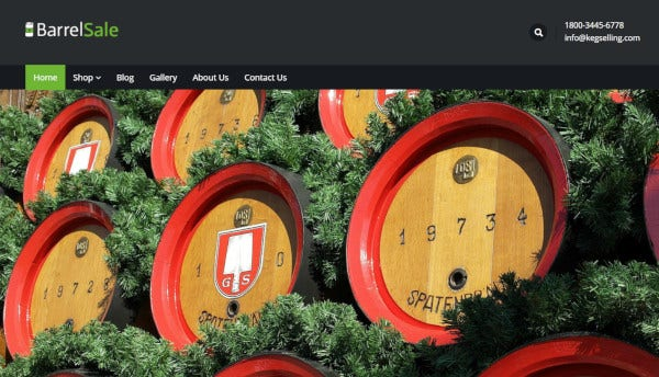 barrelsale css enabled wordpress theme