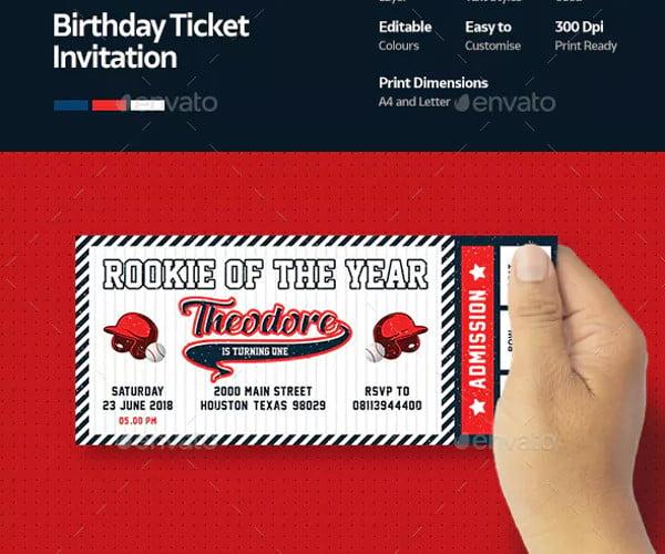 baseball birthday invitation ticket1