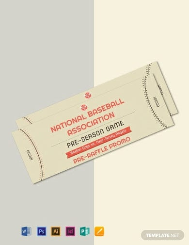 baseball raffle ticket template