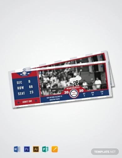 baseball ticket design