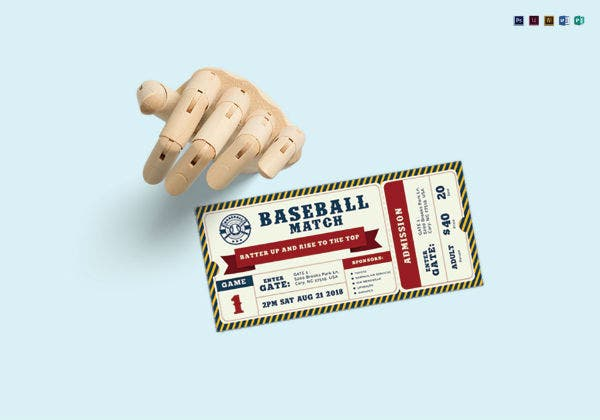 baseball ticket mock up