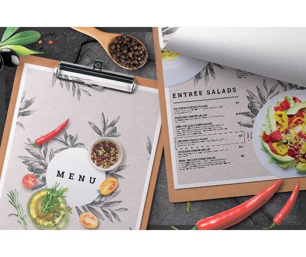 basic catering service menu template