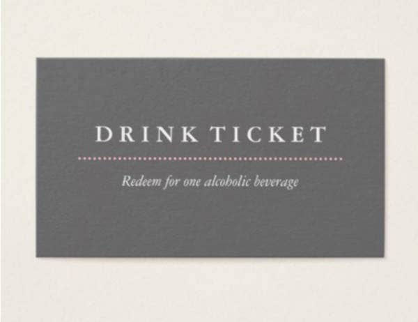 basic drink ticket template