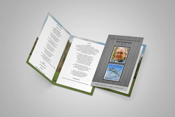 basic funeral order of service template