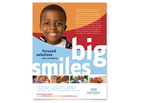 basic nonprofit flyer template