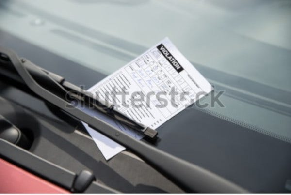 basic parking ticket template