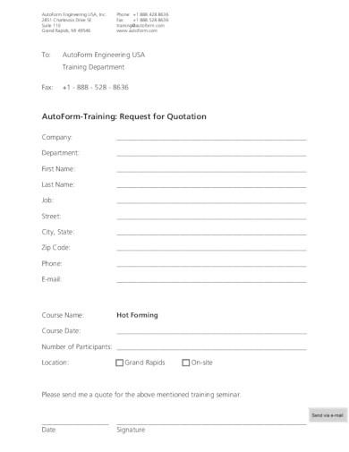 basic training quotation template