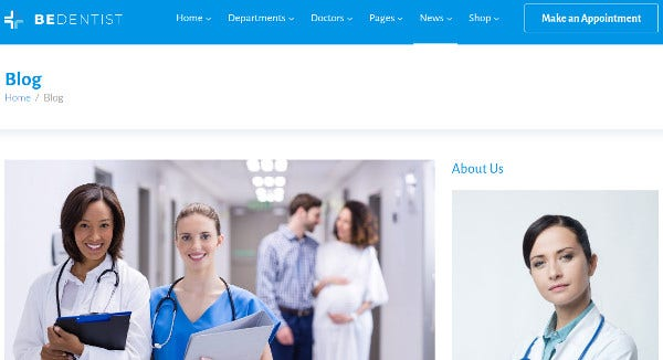 beclinic html5 and css3 wordpress theme