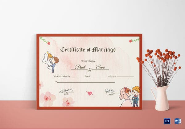 beautiful antique wedding certificate template