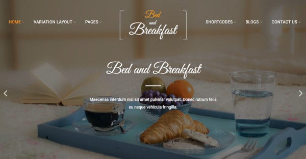 bed and breakfast – translation ready wordpress theme